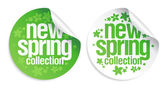 New spring collection stickers. — Vector de stock