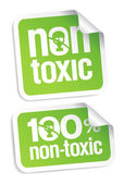 Non toxic stickers. — Stock Vector