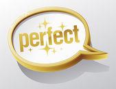 Perfect speech bubble. — Stock Vector