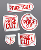Corte de preço adesivos de venda. — Vetorial Stock