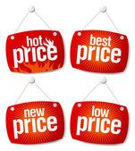 Best price signs — Stock Vector
