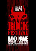 Rock festival design template. — Wektor stockowy