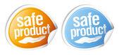 Adesivi prodotto sicuro. — Vettoriale Stock