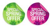 Frühling Angebot Aufkleber. — Stockvektor