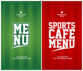 Sport café menusjabloon kaarten. — Stockvector