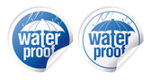 Vattentät klistermärken. — Stockvektor