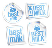 Best milk stickers. — Vector de stock