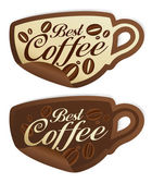 Best coffee stickers. — Stock Vector