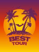 Best tour design template. — Stock Vector