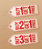 Promotional sale labels. — Stock Vector