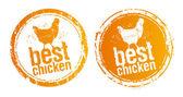 Najlepsze stemple kurczak. — Wektor stockowy
