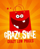Crazy sale banner. — Stock Vector