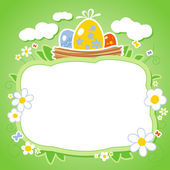 Easter card with frame for photo. — Stock Vector
