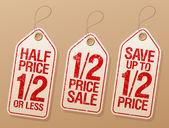 Etiquetas promocionales de venta. — Vector de stock