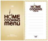 Home Cooking Menu Design template. — Stock Vector