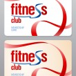 Vector de stock : Fitness club membership card.