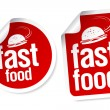 Fast Food stickers. — Stock Vector #25534433