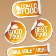 Stock Vector: Healthy Food stickers.
