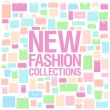 New fashion collections design template. — Stock Vector