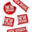New Brand stickers. — Stock Vector