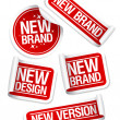 Stock Vector: New Brand stickers.