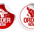 Order now stickers. — Stock Vector
