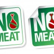 Stock Vector: No meat stickers.