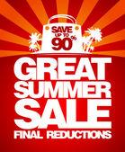 Final summer sale design template. — Stock Vector