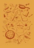 Illustraition of kitchen utensil — Stock Vector