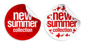 New summer collection stickers. — Stock Vector