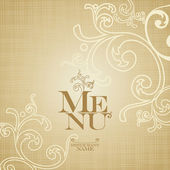 Menu Card Design template. — Stock Vector