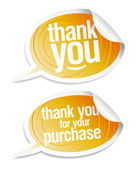 Thank you grateful stickers — Stock Vector