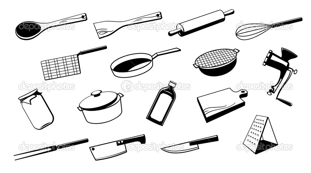 Kitchen Tools Drawings image gallery of kitchen tools and equipment drawing