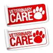 Stock Vector: Veterinary care stickers.