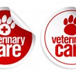 Veterinary care stickers. — Stockvectorbeeld