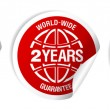 Stock Vector: World-wide guarantee stickers.