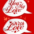 Stock Vector: Valentine stickers.