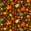 Autumn seamless background. — Stock Vector #27590347