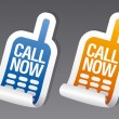 Call now stickers. — Stock Vector #27590429