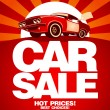 Car sale design template. — Stockvektor #27590441