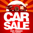 Stock vektor: Car sale design template.