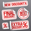 Stock Vector: Best discount sale stickers.