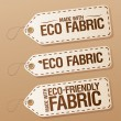 Stock Vector: Made with Eco-friendly Fabric labels.