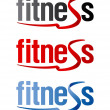 Fitness signs. — Stock Vector