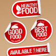 Healthy Food stickers. — Stockvector