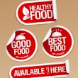 Healthy Food stickers. — Stock vektor