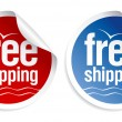Free shipping stickers. — Stock Vector #27590701