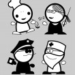 Profession funny peoples. — Stock Vector