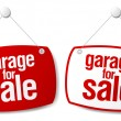 Garage for sale signs — Stockvektor