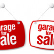 Stock Vector: Garage for sale signs